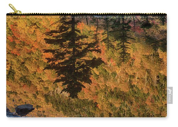 Pine Reflection And Old Bones On Beaver Pond Carry-all Pouch