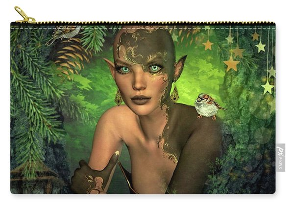 Blue Eyed Elf Carry-all Pouch
