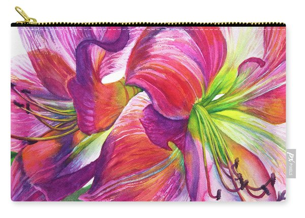 Pink Amarylis Carry-all Pouch