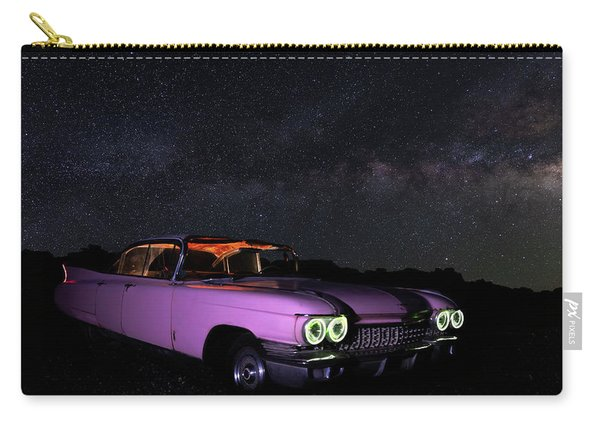 Pink Cadillac In The Desert Under The Milky Way Carry-all Pouch