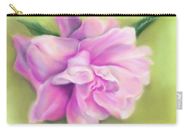 Pink Camellia With Leaves Carry-all Pouch