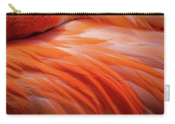 Pink Feathers Carry-all Pouch