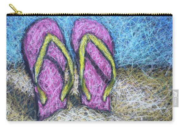 Pink Flip Flops Carry-all Pouch