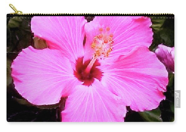 Pink Hibiscus Carry-all Pouch