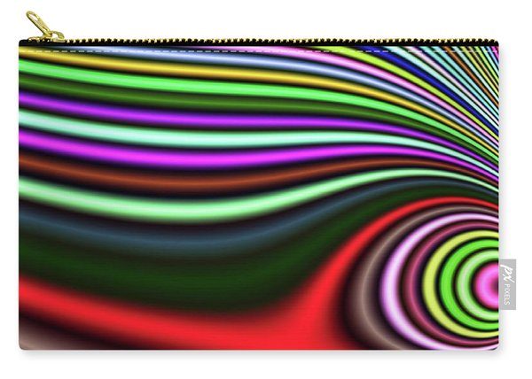 Carry-all Pouch featuring the digital art Pink Lazy Eye Fantasy by Don Northup