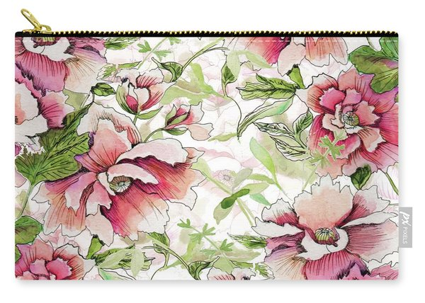 Pink Peony Blossoms Carry-all Pouch