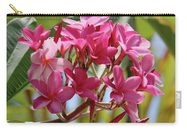 Pink Plumeria Square Carry-all Pouch