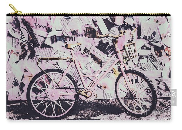 Pink Posterized Pushbike Carry-all Pouch