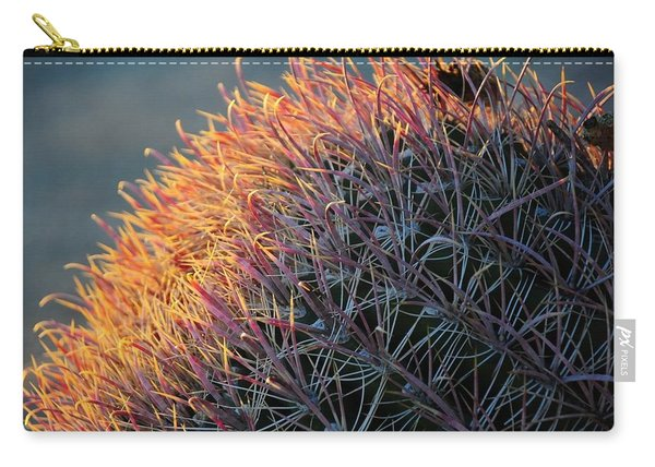 Pink Prickly Cactus Carry-all Pouch