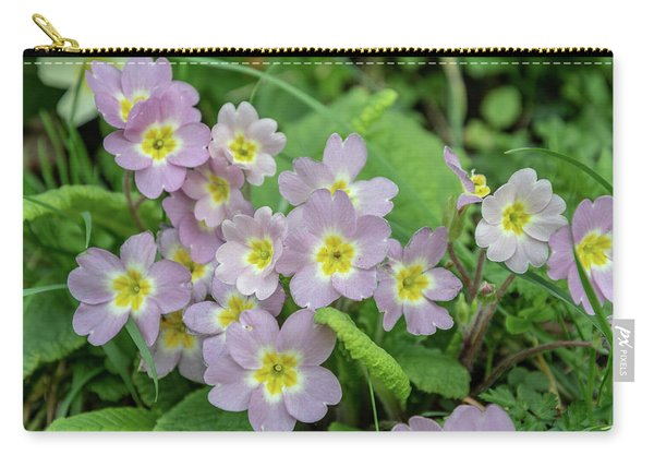 Pink Primroses In Devon Carry-all Pouch