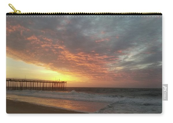 Pink Rippling Clouds At Sunrise Carry-all Pouch