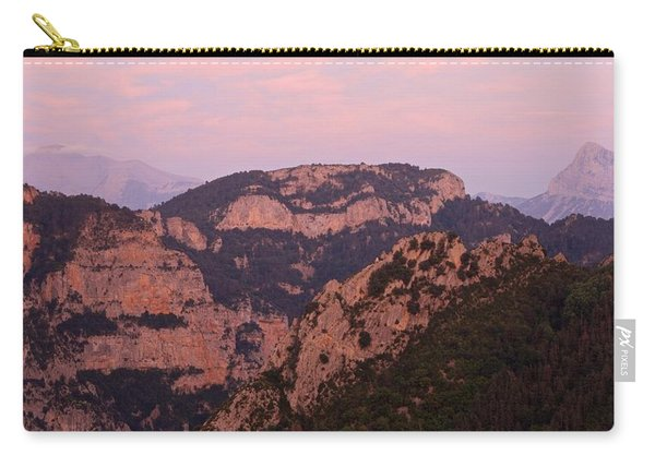 Pink Skies Above Pena Montanesa Carry-all Pouch