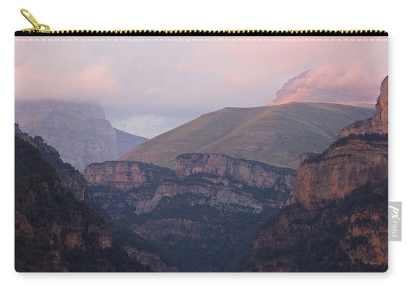Pink Skies In The Anisclo Canyon Carry-all Pouch