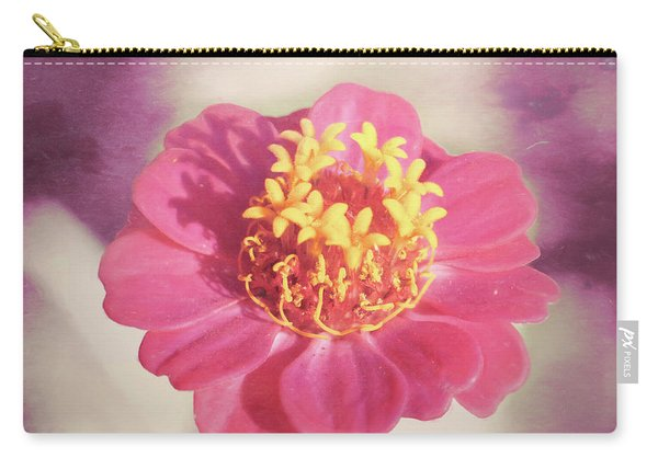 Pink Zinnia Isolated Carry-all Pouch