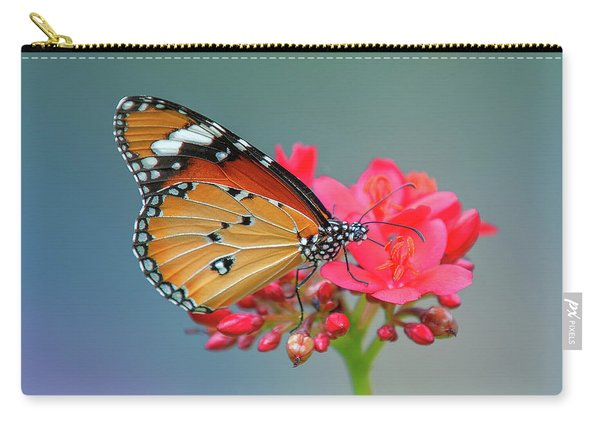 Plain Tiger Or African Monarch Butterfly Dthn0246 Carry-all Pouch