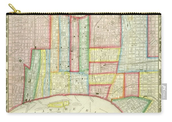 Plan Of Philadelphia, 1860 Carry-all Pouch
