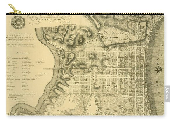 Plan Of The City Of Philadelphia And Its Environs Shewing The Improved Parts, 1796 Carry-all Pouch