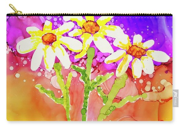 Playful Daisies Carry-all Pouch