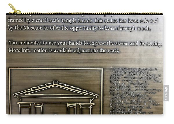 Please Touch Plaque At Getty Villa  Carry-all Pouch