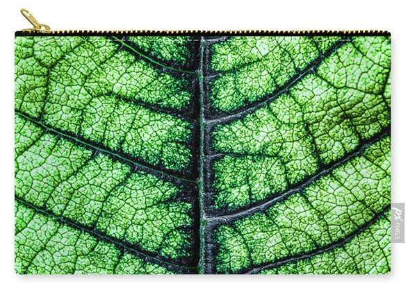 Poinsetta Leaf In Abstract Macro Carry-all Pouch
