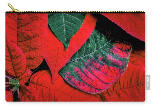Poinsettia Caught In The Act Carry-all Pouch
