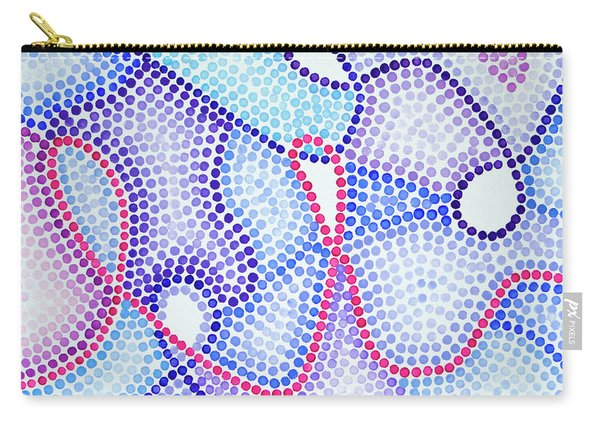 Pointillism - Loopy Pink And Purple Carry-all Pouch