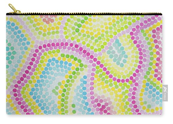 Pointillism - Palm Beach Pink And Green Carry-all Pouch