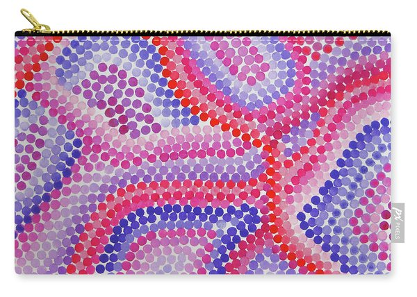 Pointillism - Red To Purple Carry-all Pouch