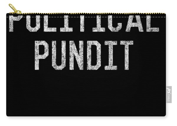 Carry-all Pouch featuring the digital art Political Pundit Vintage by Flippin Sweet Gear
