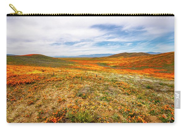 Poppies As Far As The Eye Can See Carry-all Pouch