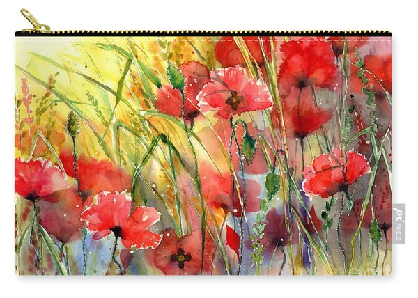 Poppies Bathing In The Sun Carry-all Pouch