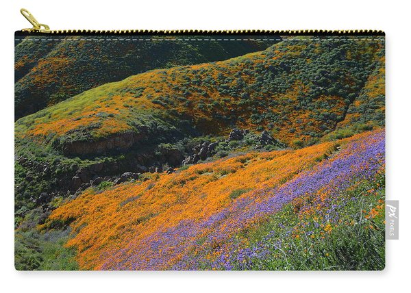 Poppies Bluebells And Rolling Hills Carry-all Pouch