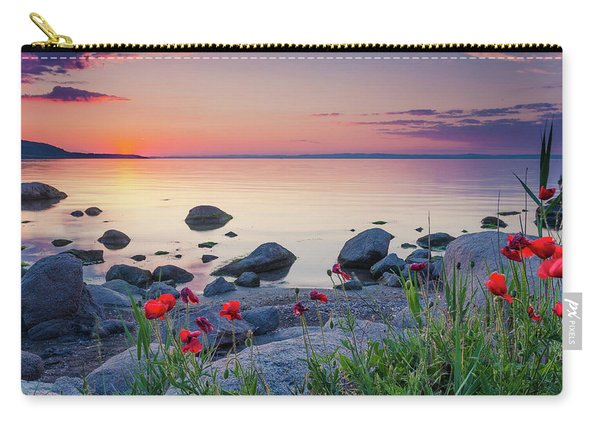 Poppies By The Sea Carry-all Pouch