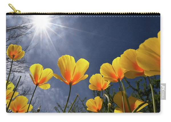 Poppies Enjoy The Sun Carry-all Pouch