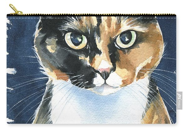 Poppy Calico Cat Painting Carry-all Pouch