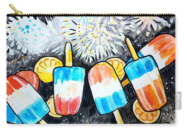 Popsicles And Fireworks Carry-all Pouch