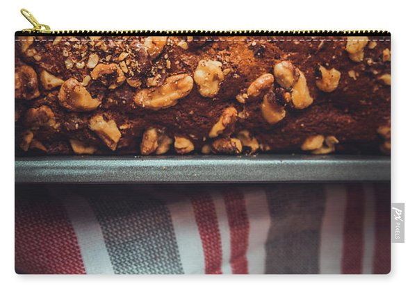 Portion Of Freshly Baked Banana Bread  Carry-all Pouch