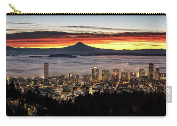 Portland Foggy Sunrise Carry-all Pouch
