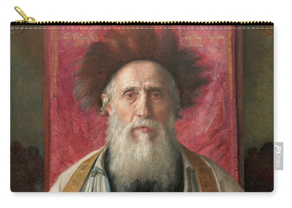 Portrait Of A Rabbi, 19th Century Carry-all Pouch
