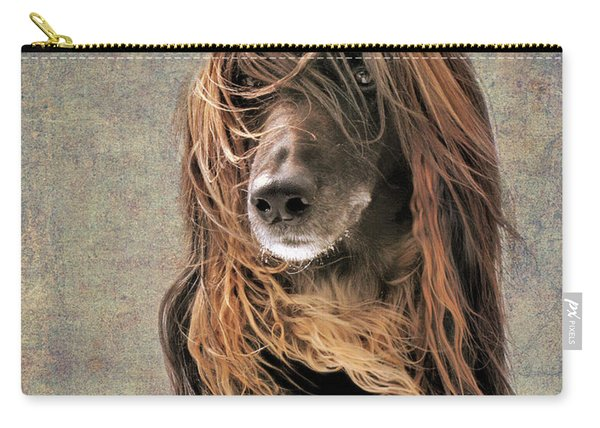 Portrait Of An Afghan Hound Carry-all Pouch