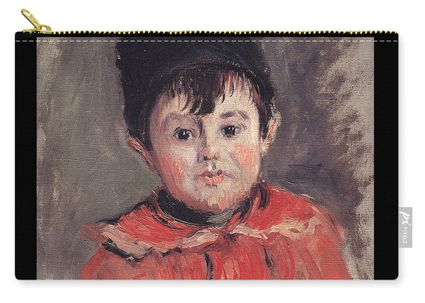 Portrait Of Michael With Hat And Pom Pom, 1880 Carry-all Pouch