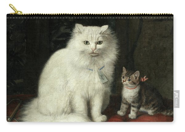 Portrait Of Thief And A Tabby Kitten Carry-all Pouch