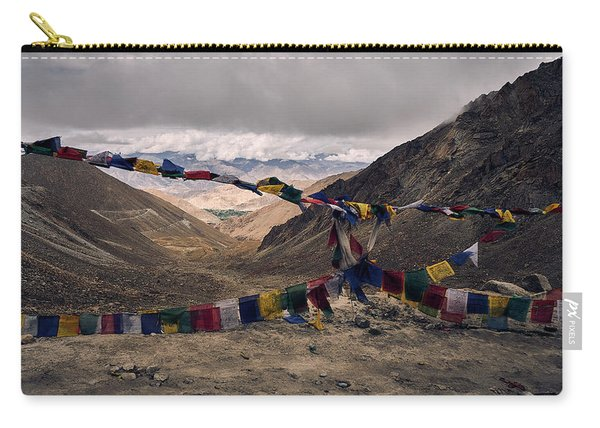 Carry-all Pouch featuring the photograph Prayer Flags In The Himalayas by Whitney Goodey