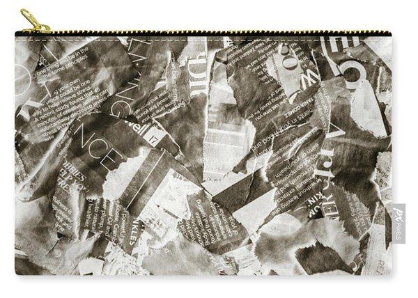 Press Print Parchment Carry-all Pouch
