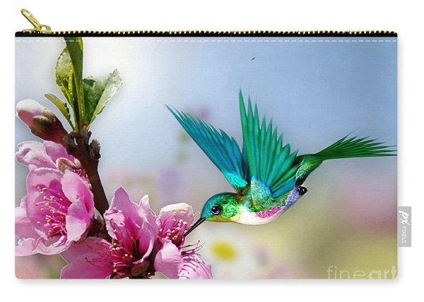 Pretty Hummingbird Carry-all Pouch