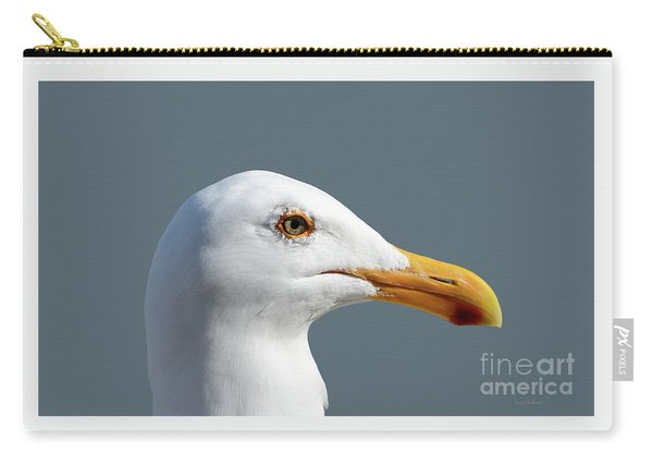 Pretty Western Gull In Profile Carry-all Pouch