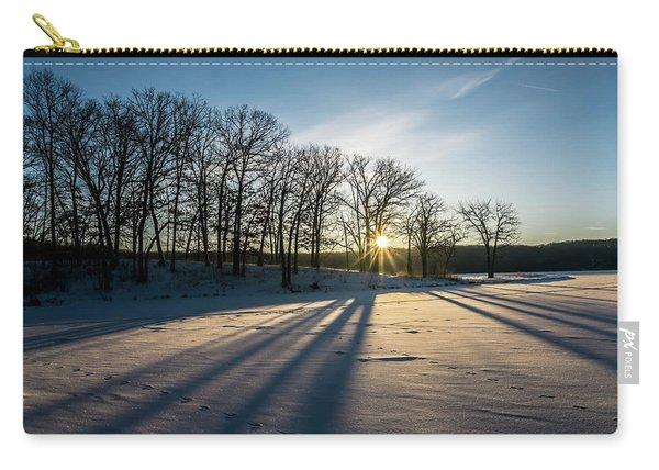 Pretty Winter Sun Rise Scene Carry-all Pouch