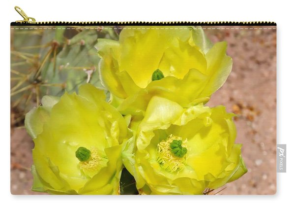 Prickly Pear Cactus Trio Bloom Carry-all Pouch