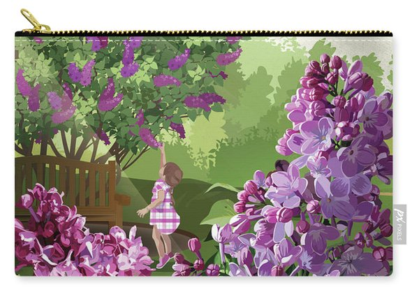 Carry-all Pouch featuring the drawing Print by Clint Hansen