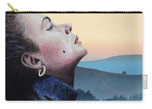 Profile Portrait Of Liz Taylor At Sunset Carry-all Pouch